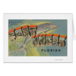 Ft. Myers, Florida - Large Letter Scenes Greeting Card