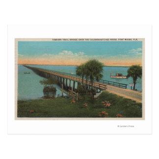 Ft. Myers, Florida - View of Tamiami Trail Bridg Postcard