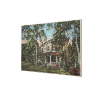 Ft. Myers, Florida - View of Thomas Edison House Canvas Print