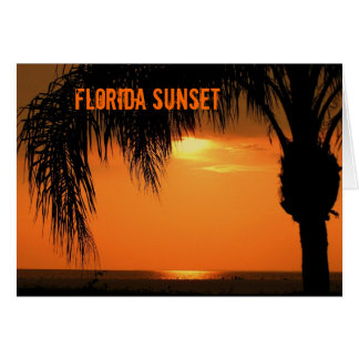 Ft. Myers Sunset Greeting Card