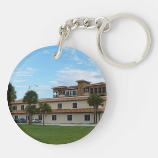 Ft Pierce Florida Library Double-Sided Round Acrylic Keychain