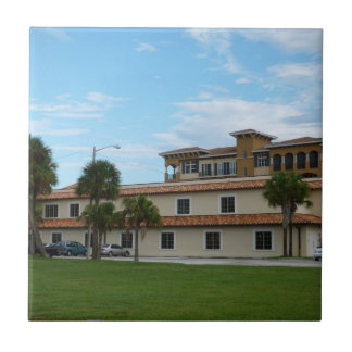 Ft Pierce Florida Library Small Square Tile