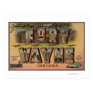 Ft. Wayne, Indiana - Large Letter Scenes 2 Postcard