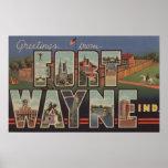 Ft. Wayne, Indiana - Large Letter Scenes 2 Poster