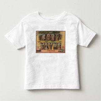 Ft. Wayne, Indiana - Large Letter Scenes 2 Toddler T-shirt
