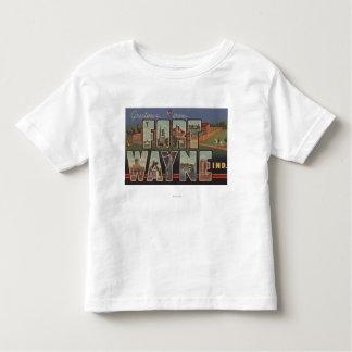 Ft. Wayne, Indiana - Large Letter Scenes 3 T-shirt