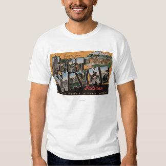 Ft. Wayne, Indiana - Large Letter Scenes T Shirt