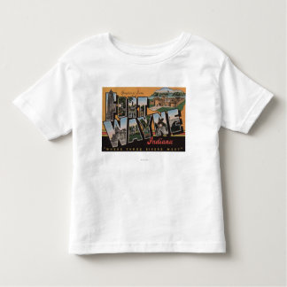 Ft. Wayne, Indiana - Large Letter Scenes Tee Shirt