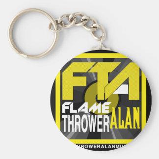 FTA Flame Thrower Alan Music Apparel & Merchandise Basic Round Button Keychain
