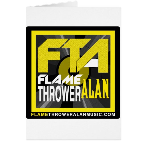 FTA Flame Thrower Alan Music Apparel & Merchandise Greeting Cards