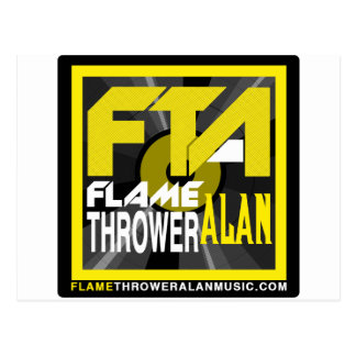 FTA Flame Thrower Alan Music Apparel & Merchandise Postcard