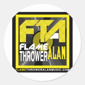 FTA Flame Thrower Alan Music Apparel & Merchandise Round Stickers