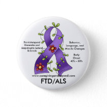 FTD/ALS Purple Ribbon Button