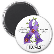 FTD/ALS Purple Ribbon Magnet