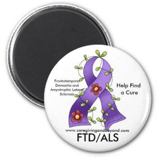 FTD/ALS Purple Ribbon Magnet