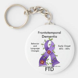 FTD, cinta frontotemporal de la conciencia de la d Llavero Redondo Tipo Pin