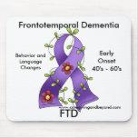 FTD, Frontotemporal Dementia Purple Ribbon Mousepa Mouse Mats