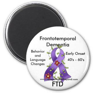 FTD, imán púrpura de la cinta de la demencia front