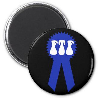 ¡FTF Blue Ribbon! Imán Redondo 5 Cm