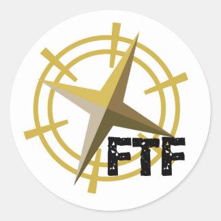 FTF con el compás Pegatina Redonda