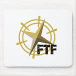 FTF con el compás Tapetes De Ratón