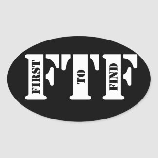 FTF (First to Find) Oval Sticker