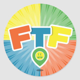 FTF (First to Find) Swag Classic Round Sticker
