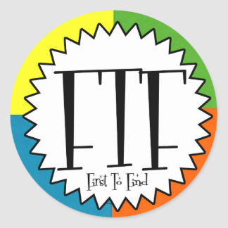 FTF with four colors Classic Round Sticker