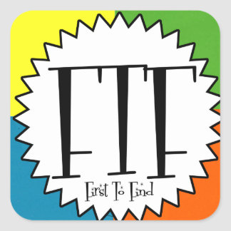 FTF with four colors Square Sticker