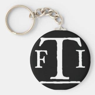 FTI logo 2 Basic Round Button Keychain