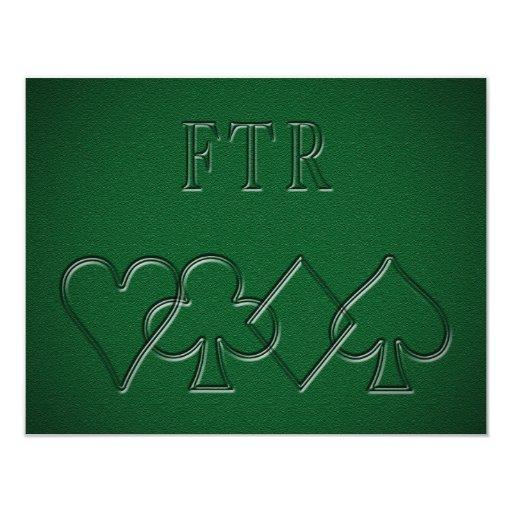 FTR - Flop, Turn, River Custom Invitations