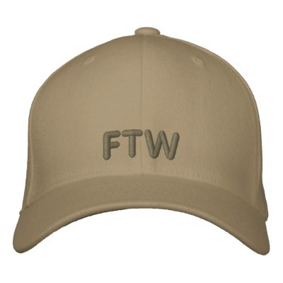 FTW EMBROIDERED HAT