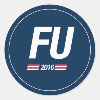 FU 2016 CLASSIC ROUND STICKER