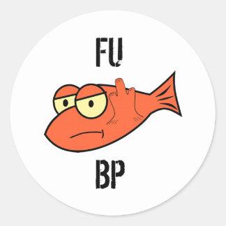 FU BP CLASSIC ROUND STICKER