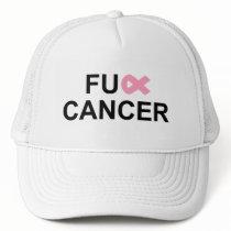 FU** Cancer Pink Breast Cancer ribbon hat
