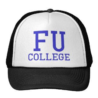 FU College Cap Trucker Hat