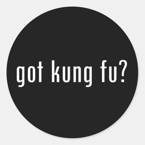 ¿fu conseguido del kung? etiqueta redonda