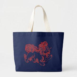 Fu Dog, Foo Dog Large Tote Bag