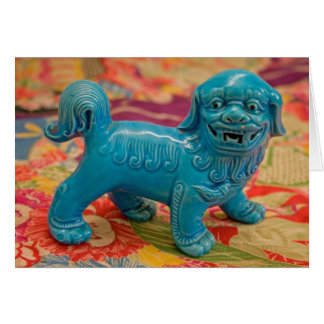 Fu Dog on old Kimono Card