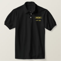 FU Embroidered Wings W/Call Sign Embroidered Polo Shirt
