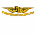 FU Embroidered Wings W/Call Sign on sleeve Polo Shirt