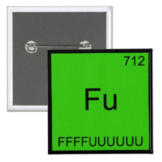 Fu - FFFFUUUUUUU Funny Element Meme Chemistry Tee 2 Inch Square Button