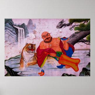 Fu Hu Luohan Print