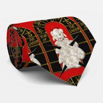 Fu Manchu Lamb - Year of the Sheep Tie