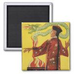 Fu-Manchu Magician Advertisement Fridge Magnet