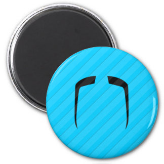 Fu Manchu Mustache 2 Inch Round Magnet