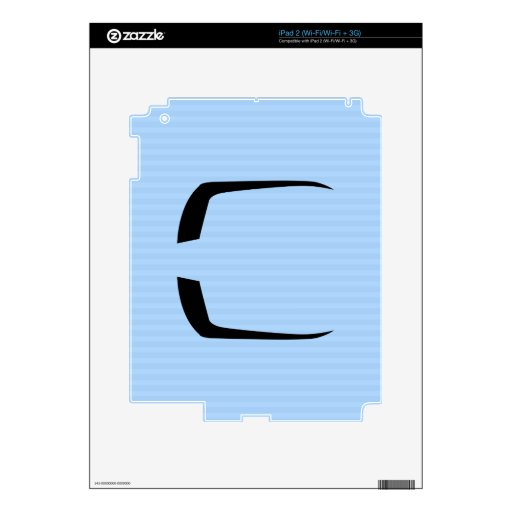 Fu Manchu Mustache Decal For The iPad 2