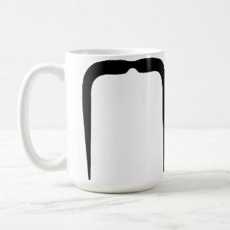 Fu Manchu Mustache in Black Classic White Coffee Mug