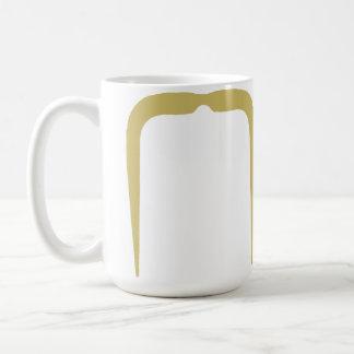Fu Manchu Mustache in Blonde Coffee Mug