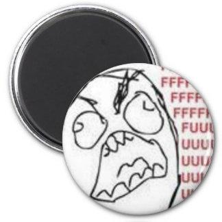 FU Rage Comic 2 Inch Round Magnet